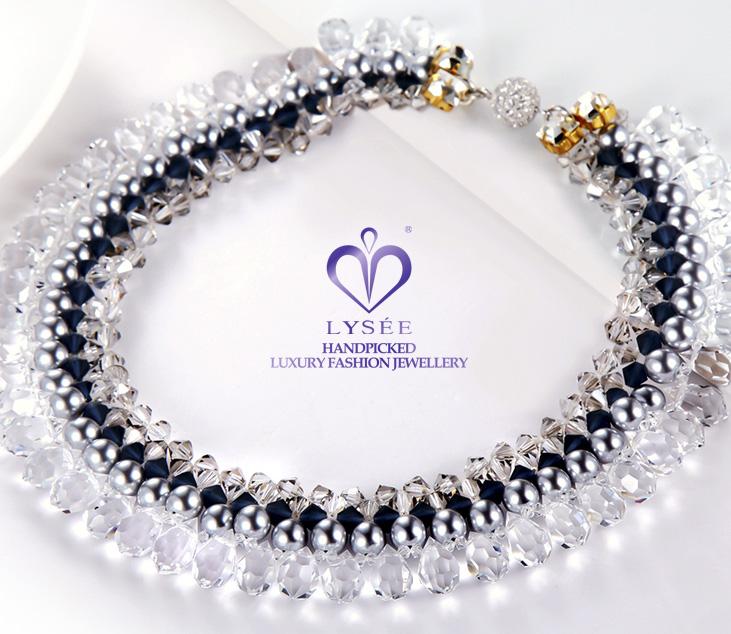lysee,水晶珠子,水晶珍珠,项链